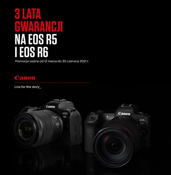 Canon - uzyskaj 3 lata gwarancji